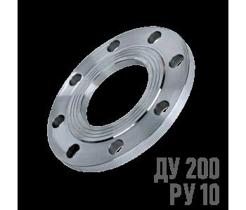 Фланец плоский стальной Ру 10 Ду 200 (219)